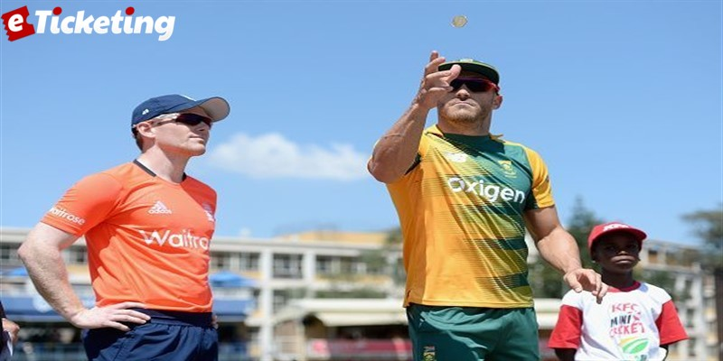 England Captain Eion Morgan And South African Captain Faf Du Plessis