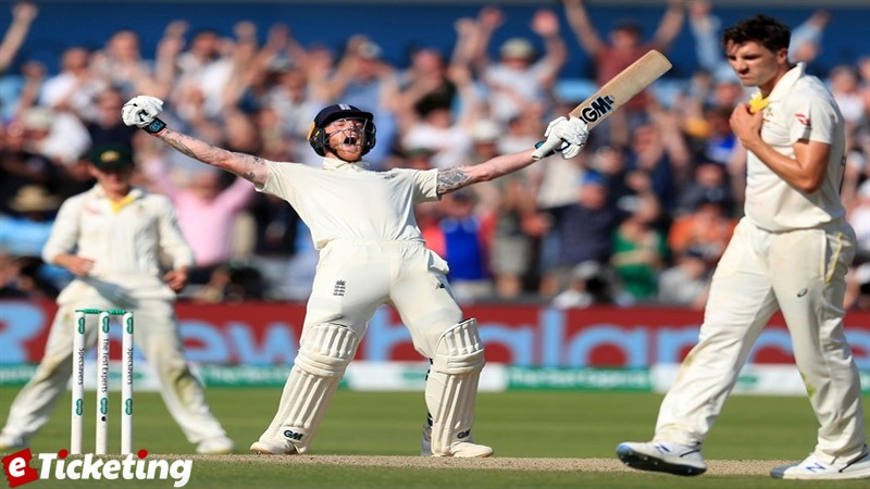 Ben Stokes after played winning shot Ashes 2019