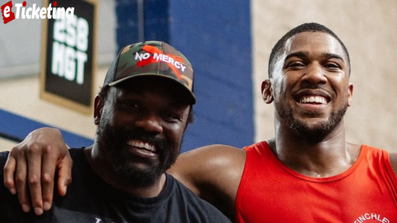 Anthony Joshua Tickets - Before fight with Usyk Joshua Signs Derek Chisora to his Mangement Company MGT 258