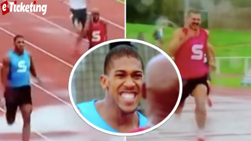 Anthony Joshua Boxing Tickets - Anthony Joshua contending in 100m run back in 2012 shows how much speed he has