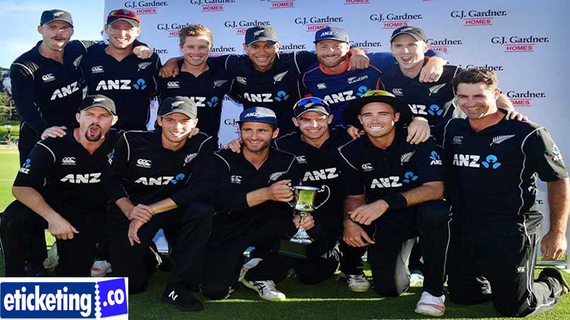 Pakistan Vs New Zealand Tickets -Driven by Wellington mentor Glenn Pocknall. Tom Latham will help as captain all through the Test and T20 World Cups