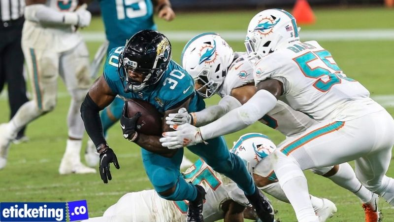 Quarterback Trevor Lawrence and the Jacksonville Jaguars take on the Miami Dolphins